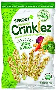 Sprout - Sprout - 有机Crinklez Popped Veggie Snack Cheesy菠菜 - 1.5 盎司