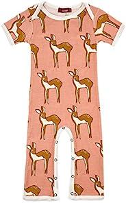 MilkBarn 有机棉短袖婴儿连衫裤玫瑰圆点 12-18 个月