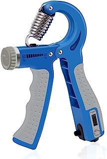 WFFITT 手握增强器,阻力22-120磅(约10-59.9公斤),手部锻炼器,握力增强器锻炼,手指锻炼,手腕增强器,*版,自动计数功能