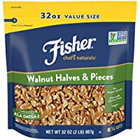 FISHER Chef's Naturals 胡桃木半片和件 Halves & Pieces 32 Ounce (Pack of 1)