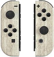 eXtremeRate 松木 Joycon 手持控制器外壳带按钮,DIY 替换外壳 适用于 Nintendo Switch Joy-Con – 不包括Joycon 和控制台