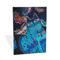 paperblanks 愛爾蘭 中號貓咪系列筆記本藍貓與花蝴蝶 MIDI