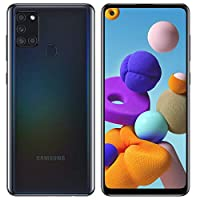 Samsung 三星 Galaxy A21S SM-A217M/DS 4G LTE 64GB + 4GB Ram LTE USA w/四摄像头 (48+8+2+2mp) Android (黑色) 国际版