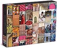 印度图案: A Journey Through Colors, Textiles and The Vibrancy of Rajasthan 1000 片拼图