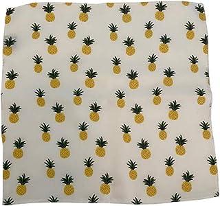 D&L 男装菠萝白色黄色*丝绸方形口袋,大号