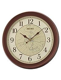 Seiko 精工掛鐘,塑料,棕色,36.8 x 36.8 x 4.3 厘米