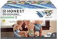 The Honest Company 俱乐部礼盒-Clean Consciou 尿布,扎染+可爱仙人掌,尺寸:4,120计数(包装可能有所不同)