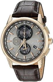Citizen Men's AT8113-04H World Chronograph A-T Analog Display Japanese Quartz Silver W