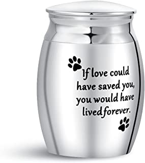 TGLS 小型奶油灰缸宠物猫狗纪念迷你纪念品Urns 不锈钢 - If Love Could Have Saved You, You Would Have Lived Forever