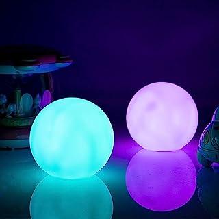 STRQUA [1 件装] 浮动泳池灯球,RGB 变色LED浴缸夜灯 IP68 防水池塘球灯适用于儿童礼品婚礼派对热水浴池,
