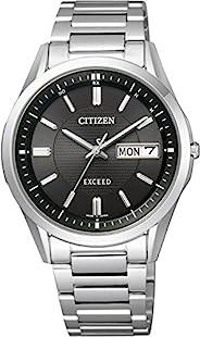 EXCEED(エクシード) 男士 手表 AT6030-51E 光能驱动 电波计时手 日期款