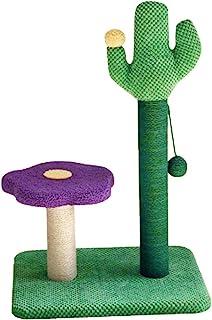 Shiningirl 仙人掌猫猫抓柱猫爬架带球宠物攀岩杆花台适用于猫爪磨玩具家具装饰