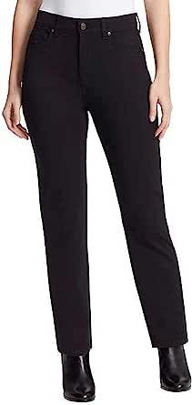 Gloria Vanderbilt 女式 Amanda 修身高腰,经典合身,锥形裤腿,针织尖长裤