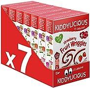 kiddylicious 多件装草莓 wriggles 4 袋,7 件装(包装可能有所不同)