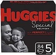 Huggies 好奇 特别快递 低致敏性婴儿纸尿裤,尺寸5,84 片,一个月用量