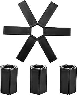 折叠三脚架 4 件套硅胶隔热垫防滑可水洗隔热垫适用于餐桌厨房假日和派对