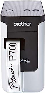Brother 兄弟 PT-P700 标签机,USB 2.0,P-Touch便携式标签打印机,24毫米限度标签,包括AC适配器/ USB电缆/ 24毫米黑白胶带盒