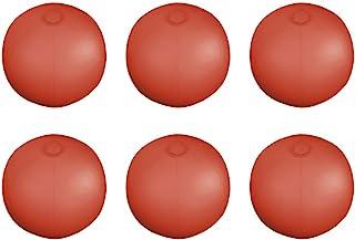 eBuyGB 6 件装充气半透明沙滩球,10.5 英寸/10 英寸,红色