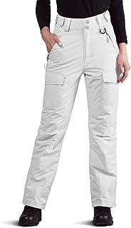 FREE SOLDIER 女式户外防水防风透气滑雪裤冬季隔热滑雪裤