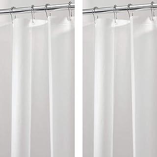 mDesign 塑料,PEVA 浴帘内衬,适用于浴室淋浴和浴缸 - 3 规格 - 182.88 厘米 x 243.84 厘米 - 2 件装 - 霜冻