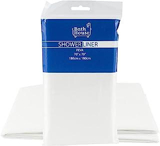 Bath House 白色 PEVA 淋浴内衬 - 70 x 70 英寸