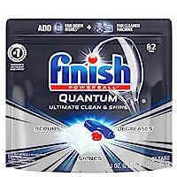 Finish Quantum 洗碗机用清洁剂-强力球-清洁和光泽-洗碗片-洗碟片-82件