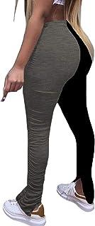 Nimsruc 女式休闲裤,紧身时尚休闲长抽绳长裤