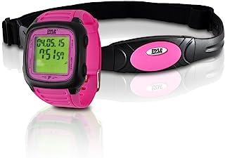 智能健身心率监测器 – 数字运动腕表活动心率追踪器,带胸带,3D 传感器,EL 背光,闹钟,用于运动或跑步,男女皆宜 – Pyle