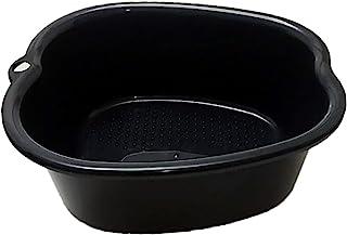 大号足浸泡浴缸折叠*沐浴水疗盆*水疗盆按摩盆脚浴桶,适用于浸泡*、脚趾甲和脚踝,修脚(黑色)