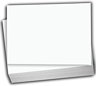 Hamilco 白色卡片纸 - 11.4 厘米 X 15.9 厘米 A6 空白索引闪光笔记和明信片 - 80 磅打印机卡片纸 - 100 包