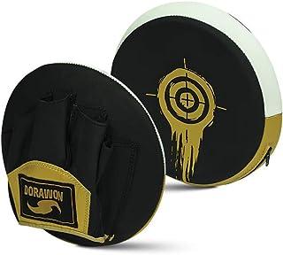 Dorawon Phoenix 一对中性成人圆形皮革熊爪,黑色/金色