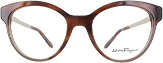 Ferragamo 女士 SF2784 眼镜架,棕色,53