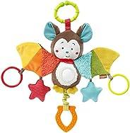Fehn 067712 可活动玩具动物蝙蝠,挂在镜子和戒指上的电动玩具,可以咬,抓,发出声音,适合0个月以上的婴幼儿