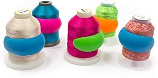 100 个刺绣/缝纫机线轴 - 无杂乱的线轴防止螺纹脱线,无松散端或线尾