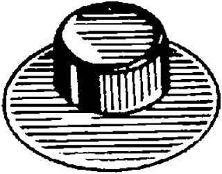 Clipsandfasteners Inc 50 垫圈帽型螺母紧固件 1.59 cm 螺柱直径