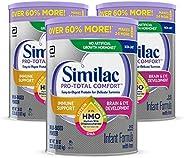 Similac 雅培 Pro-Total Comfort 婴幼儿配方奶粉 OPTI-GRO,温和配方,含 2'-FL HMO,婴儿配方奶粉,36 盎司(1.02kg), 3罐装 (新老包装交