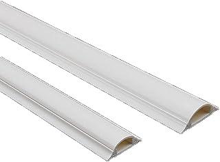 Allinone 15 39.37 x 0.86 x 0.31 英寸 PVC 塑料 半弧 地板线 迷你电缆后备槽 - 白色