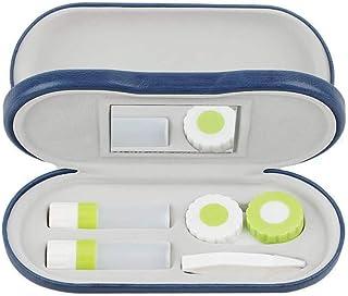 2 合 1 双面便携式眼镜盒和隐形眼镜盒(蓝色)