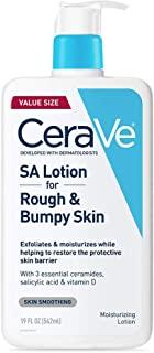 CeraVe SA乳液,适合粗糙和凹凸不平的皮肤| 维生素D,透明质酸,水杨酸和乳酸乳液| 无香料| 19盎司/562毫升
