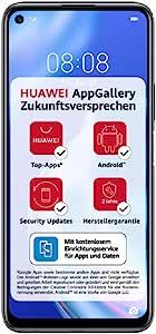 Huawei 华为 P40 lite 5G 双卡双待智能手机(16.51cm/6.5英寸),128GB ROM,6GB RAM,Android 10.0 AOSP,无Google Play商店,EMUI 10.1.1),午夜黑