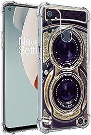 老式相机适用于 One Plus Nord N100 保护套男女男孩,酷炫复古 70 年代 80 年代 90 年代老式复古相机保护套适用于 One Plus Nord N100,有趣的复古外观柔软超薄硅胶外壳