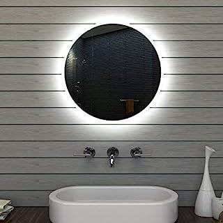 Lux-aqua 浴室镜子浴室镜子圆形 60 厘米 MLE6602