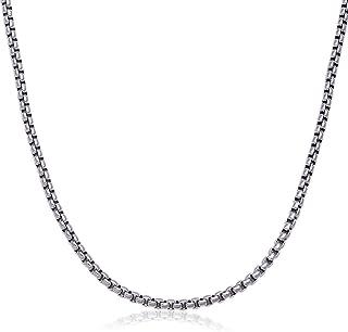 40.64-91.44cm 男士不锈钢银色 3.5mm Rolo Box 项链链