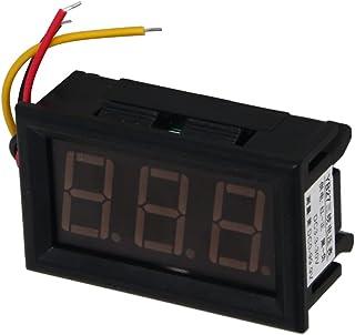Heyiarbeit 直流电压表 YB27 数字蓝色文字 LED 数字电压表 3 根电线连接用于直流电压测量 1 件