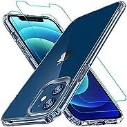 iPhone 12 Mini 手机壳,[*气囊系列] 带 [2 x 钢化玻璃屏幕保护膜] [*级] | 15 英尺(约 3.8 米)跌落测试[防刮]适用于 Apple iPhone 12 Mini 5.4 英寸(约 15