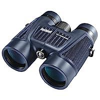 Bushnell H2O多用途防水望遠鏡150142附有鏡包和肩帶防滑機身Bak-4屋脊棱鏡10 x 42 毫米 深藍色