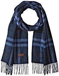 Hickey Freeman 男式羊絨窗格格子圍巾