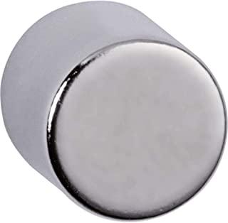 Maul 钕气缸磁铁,圆形,4公斤粘合力,10 x 10毫米,浅银色,4件