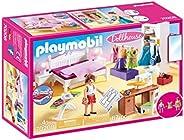Playmobil 摩比世界 娃娃屋 70208 卧室和缝纫间 具有灯光效果,适用于4岁以上儿童