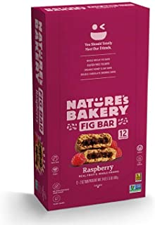 Nature's Bakery 全麦无花果棒,素食主义者+非转* 覆盆子 12 Count (Pack of 1)